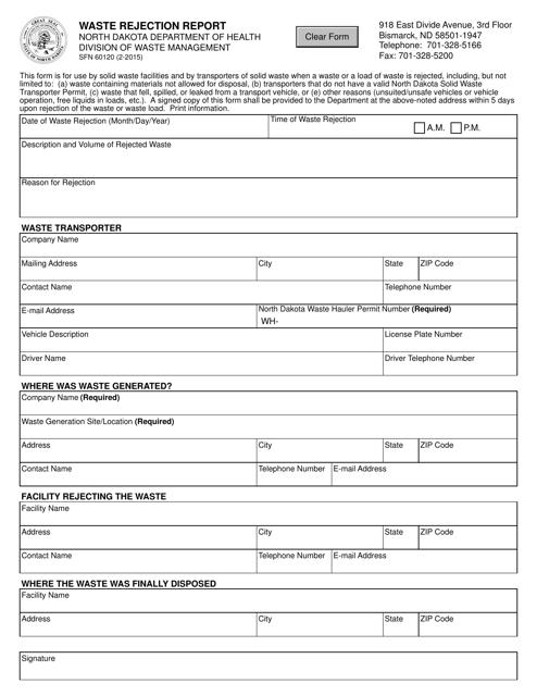 Form SFN60120  Printable Pdf