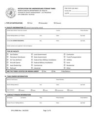 """Form SFN-10980 """"Notification for Underground Storage Tanks"""" - North Dakota"""