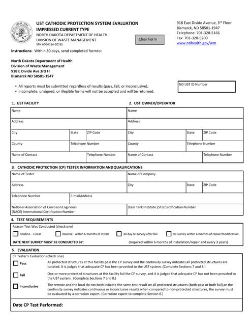 Form SFN60640  Printable Pdf