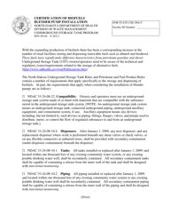 "Form SFN59146 ""Certification of Biofuels Blender Pump Installation"" - North Dakota"