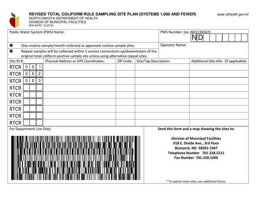 Form SFN60767  Printable Pdf
