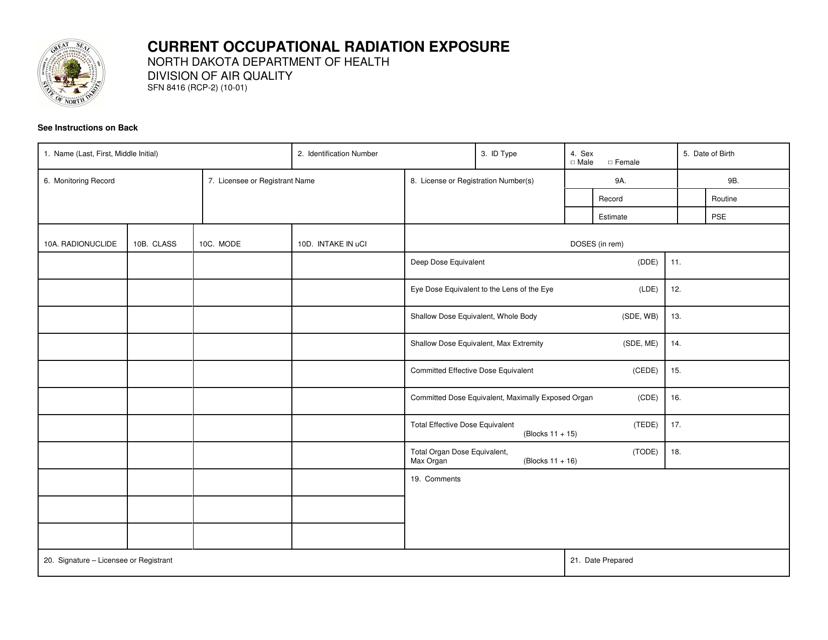 Form SFN8416  Printable Pdf