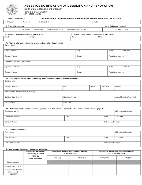 Form SFN17987  Printable Pdf