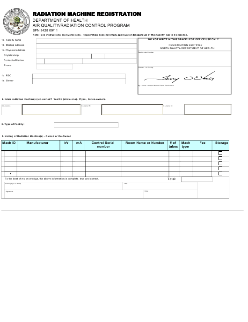 Form SFN8428  Printable Pdf