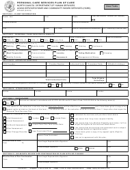 "Form SFN662 ""Personal Care Services Plan of Care"" - North Dakota"