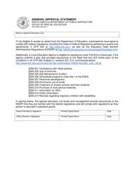"Form SFN9455 ""General Approval Statement"" - North Dakota"