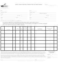 "Form SFN51639 ""Application for Field Inspection of Field Seeds"" - North Dakota"