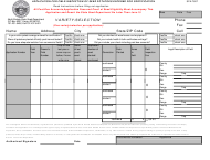 "Form SFN-7807 ""Application for Field Inspection of Seed Potatoes Entered for Certification"" - North Dakota"