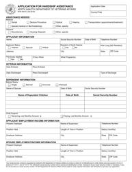 """Form SFN54410 """"Application for Hardship Assistance"""" - North Dakota"""
