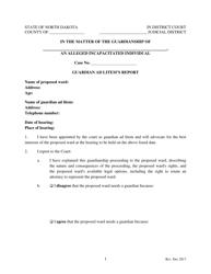 """Guardian Ad Litem's Report Form"" - North Dakota"