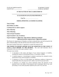 """Order Appointing an Expert Examiner"" - North Dakota"