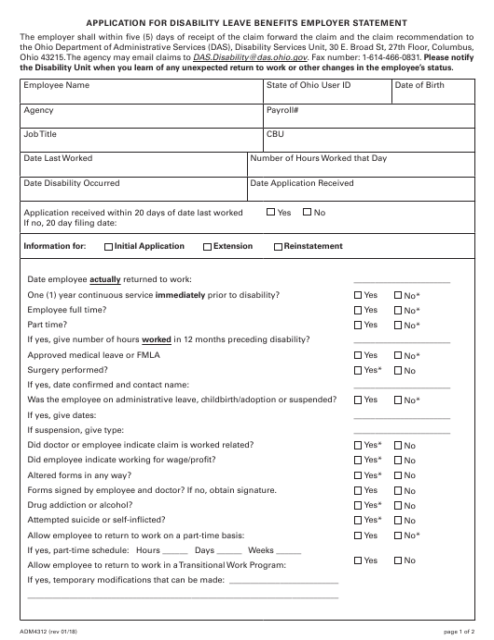 Form ADM4312  Printable Pdf