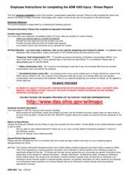 "Form ADM4303 ""Injury/Illness Report"" - Ohio"