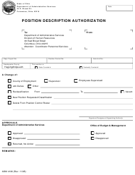 """Form ADM4136 """"Position Description Authorization"""" - Ohio"""