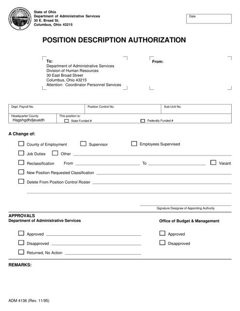 Form ADM4136  Printable Pdf