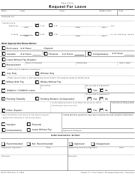 "Form ADM4258 ""Request for Leave"" - Ohio"