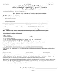 "Appendix 1 ""Gypsy Moth Survey Request Application"" - Ohio"