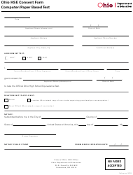 """Ohio Hse Consent Form - Computer/Paper Based Test"" - Ohio"