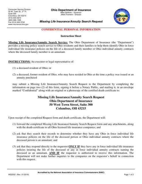 Form INS2502  Printable Pdf