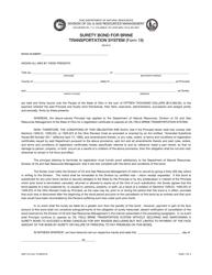 "Form DNR744 (18) ""Surety Bond for Brine Transportation System"" - Ohio"