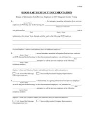 """""""'good Faith Effort' Documentation Form"""" - Ohio"""