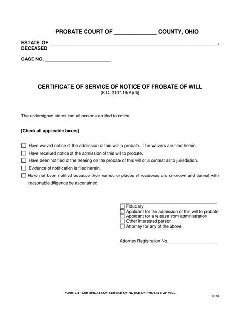 Form 2.4  Printable Pdf