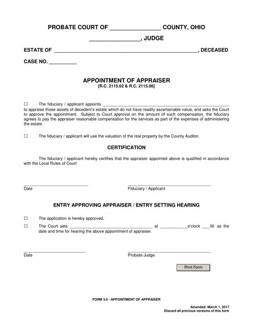 Form 3.0  Printable Pdf