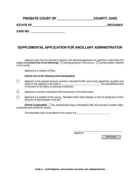 Form 4.1  Printable Pdf