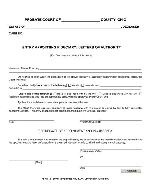Form 4.5  Printable Pdf
