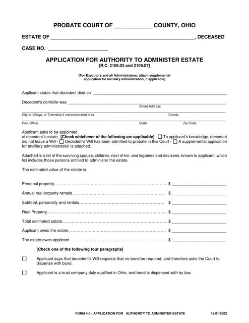 Form 4.0  Printable Pdf