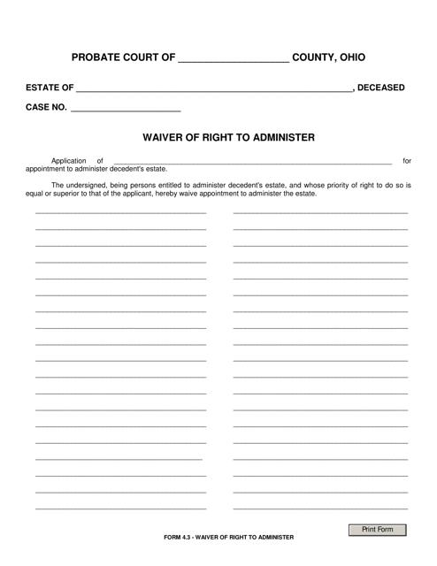 Form 4.3  Printable Pdf