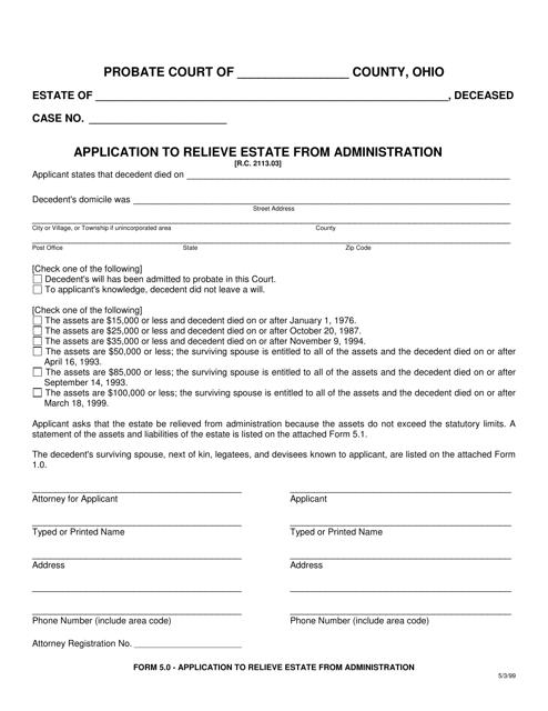 Form 5.0  Printable Pdf