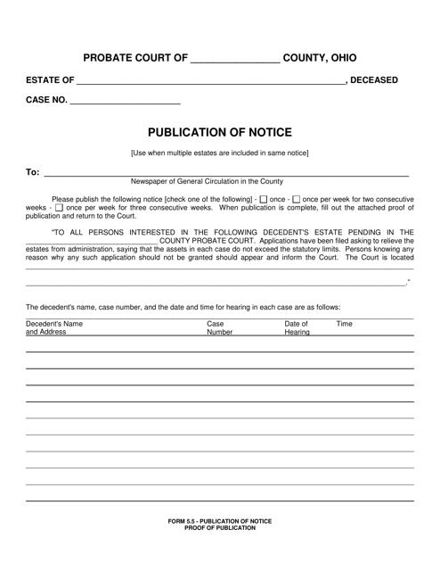 Form 5.5  Printable Pdf