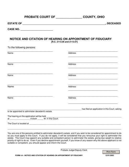 Form 4.4  Printable Pdf