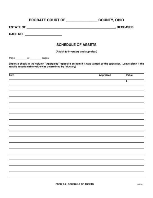 Form 6.1  Printable Pdf
