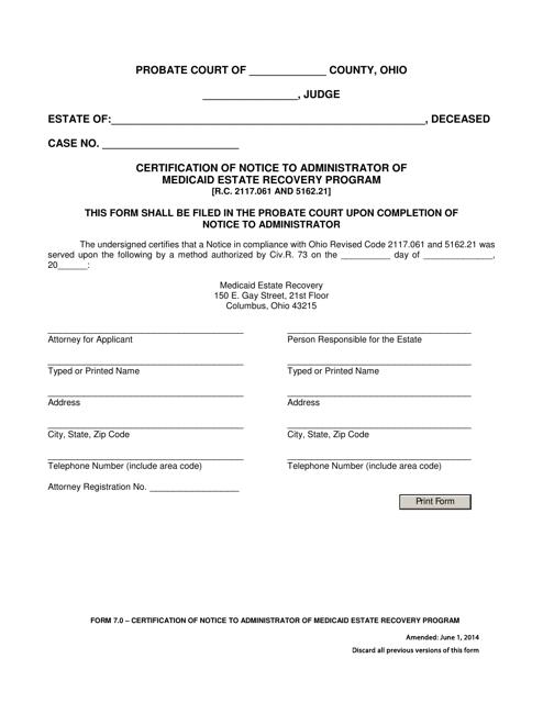 Form 7.0  Printable Pdf