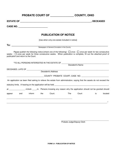 Form 5.4  Printable Pdf