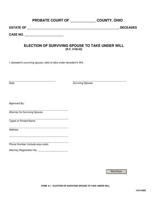 Form 8.1  Printable Pdf