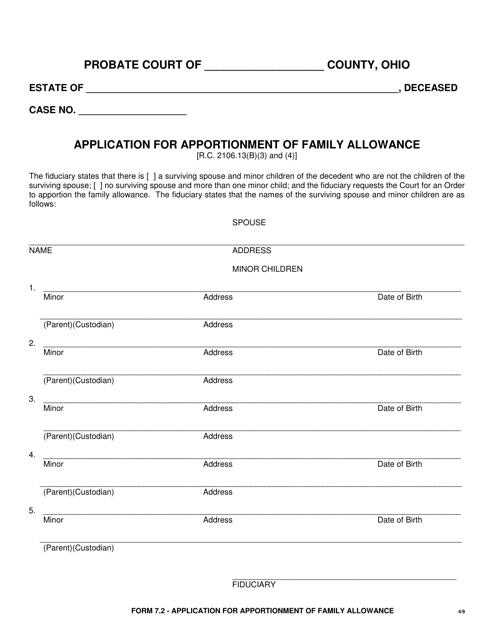 Form 7.2  Printable Pdf