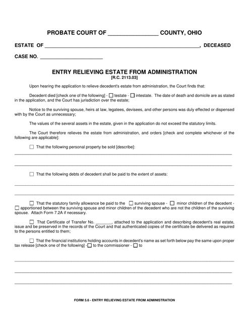 Form 5.6  Printable Pdf
