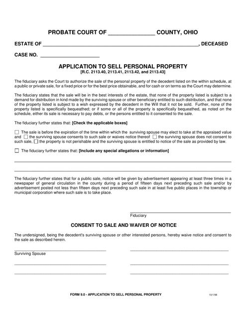 Form 9.0  Printable Pdf