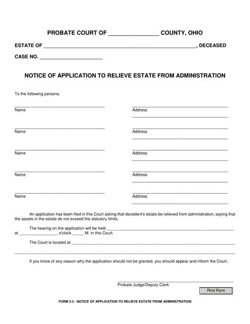 Form 5.3  Printable Pdf