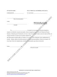 """Defendant's Waiver of Jury Trial (Common Pleas)"" - Ohio (Spanish)"