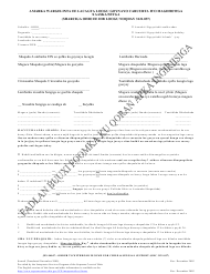 """Form JFS04047 """"Order/Notice to Withhold Income for Child and Spousal Support (Juvenile/Domestic)"""" - Ohio (Somali)"""