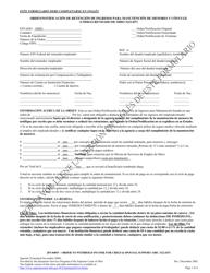 """Formulario JFS04047 """"Orden/Notificacion De Retencion De Ingresos Para Manutencion De Menores Y Conyuge (Codigo Revisado De Ohio 3121.037)"""" - Ohio (Spanish)"""