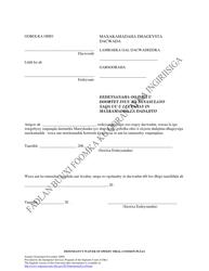 """""""Defendant's Waiver of Speedy Trial-Common Pleas"""" - Ohio (Somali)"""