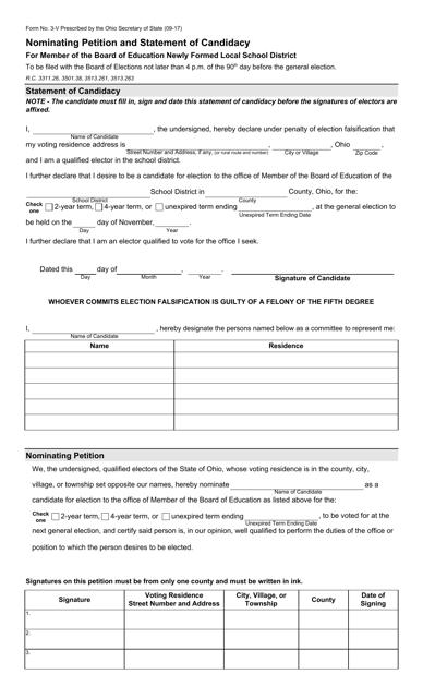 Form 3-V  Printable Pdf