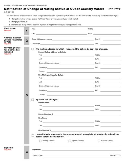 Form 12-I  Printable Pdf