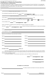 """Form 48 """"Certificate of Choice by Committee to Fill Vacancy in Nomination"""" - Ohio"""