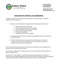 """Attorney Fees Application Form"" - Ohio"